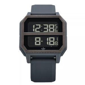New Men's ADIDAS Archive R2 Digital Watch Grey